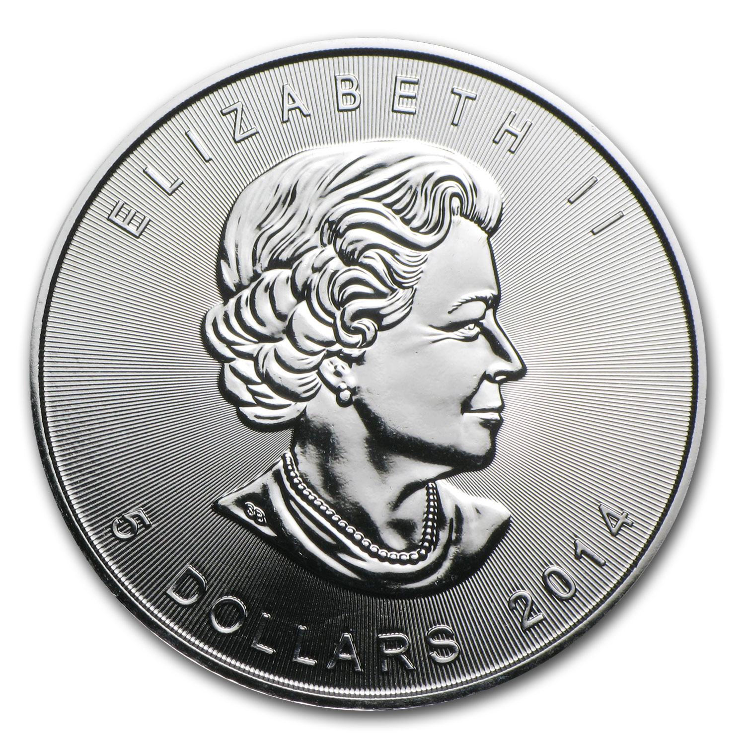 2014 1 oz Silver Canadian Maple Leaf - Reverse Struck Mint Error